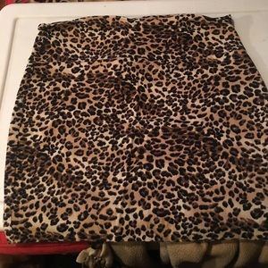 Cheetah pencil skirt